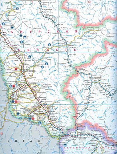 Карта железных дорог России
