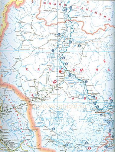 Подробная карта Луганской