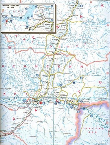 Карта ХМАО.