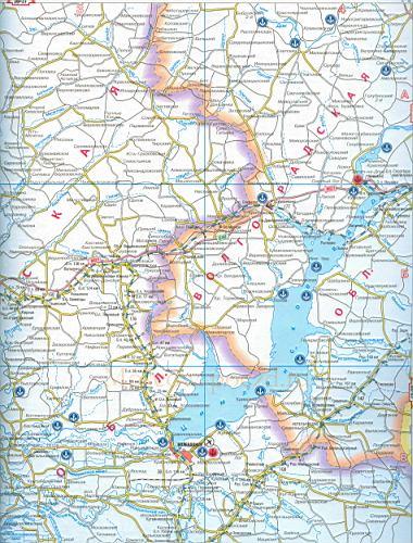 Карта Ростовской области.
