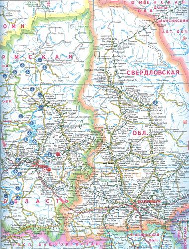 Карта железных дорог России,