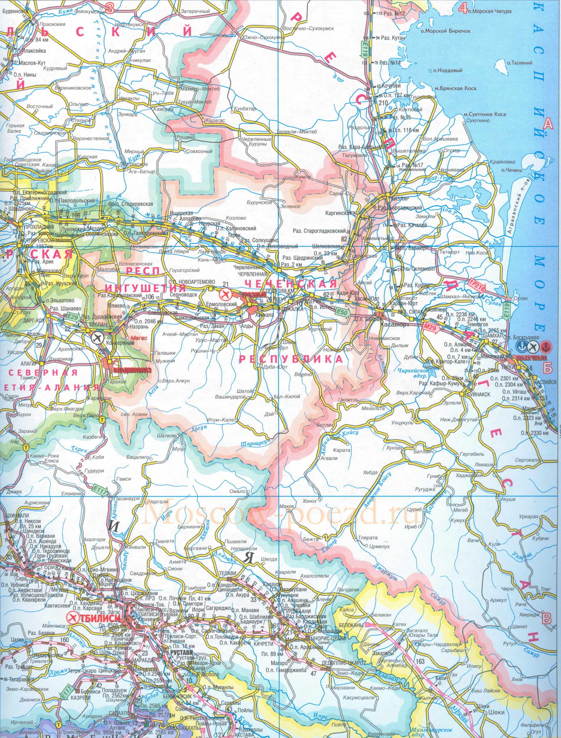 Карта грузии карта железных дорог и