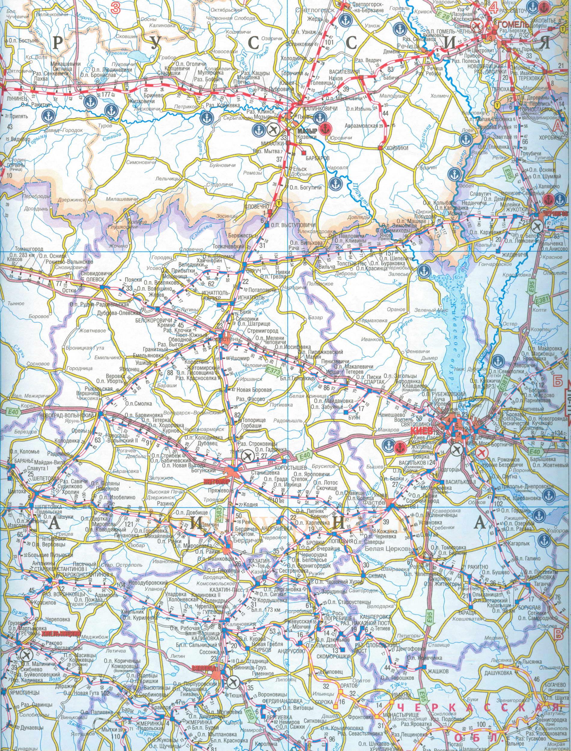 Карта Украины  ukrmaporgua