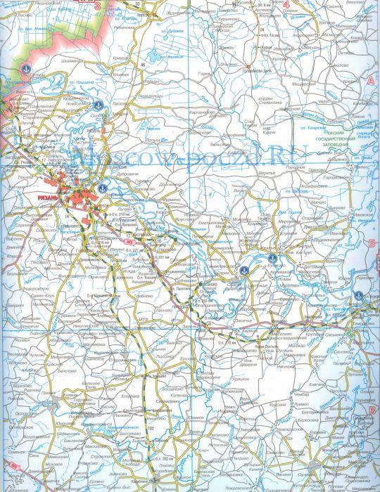 Карта железных дорог москвы и