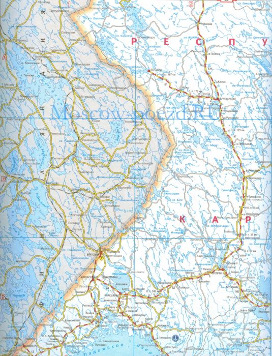 Карта октябрьской железной