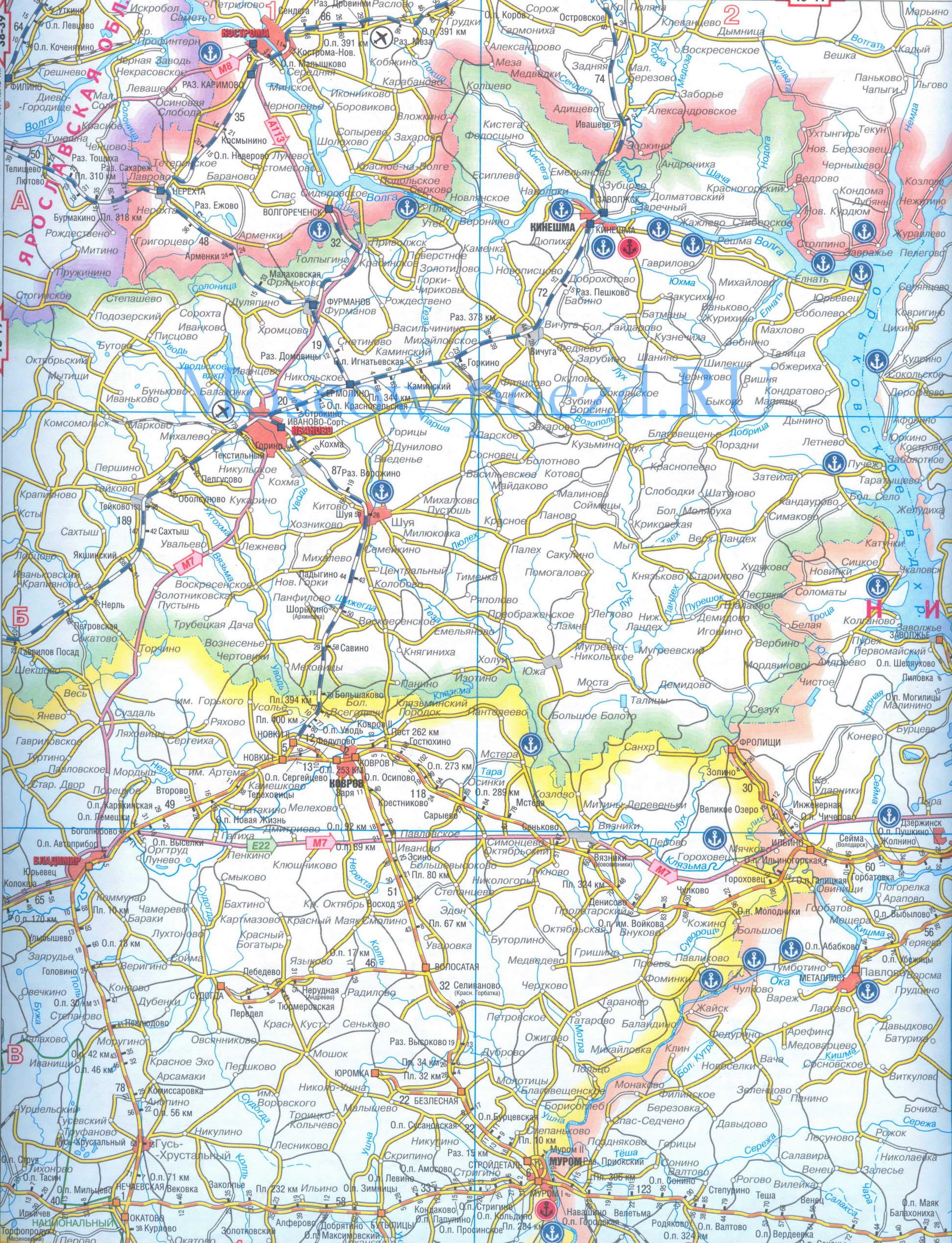 Карта железных дорог Украины. Подробная карта ...