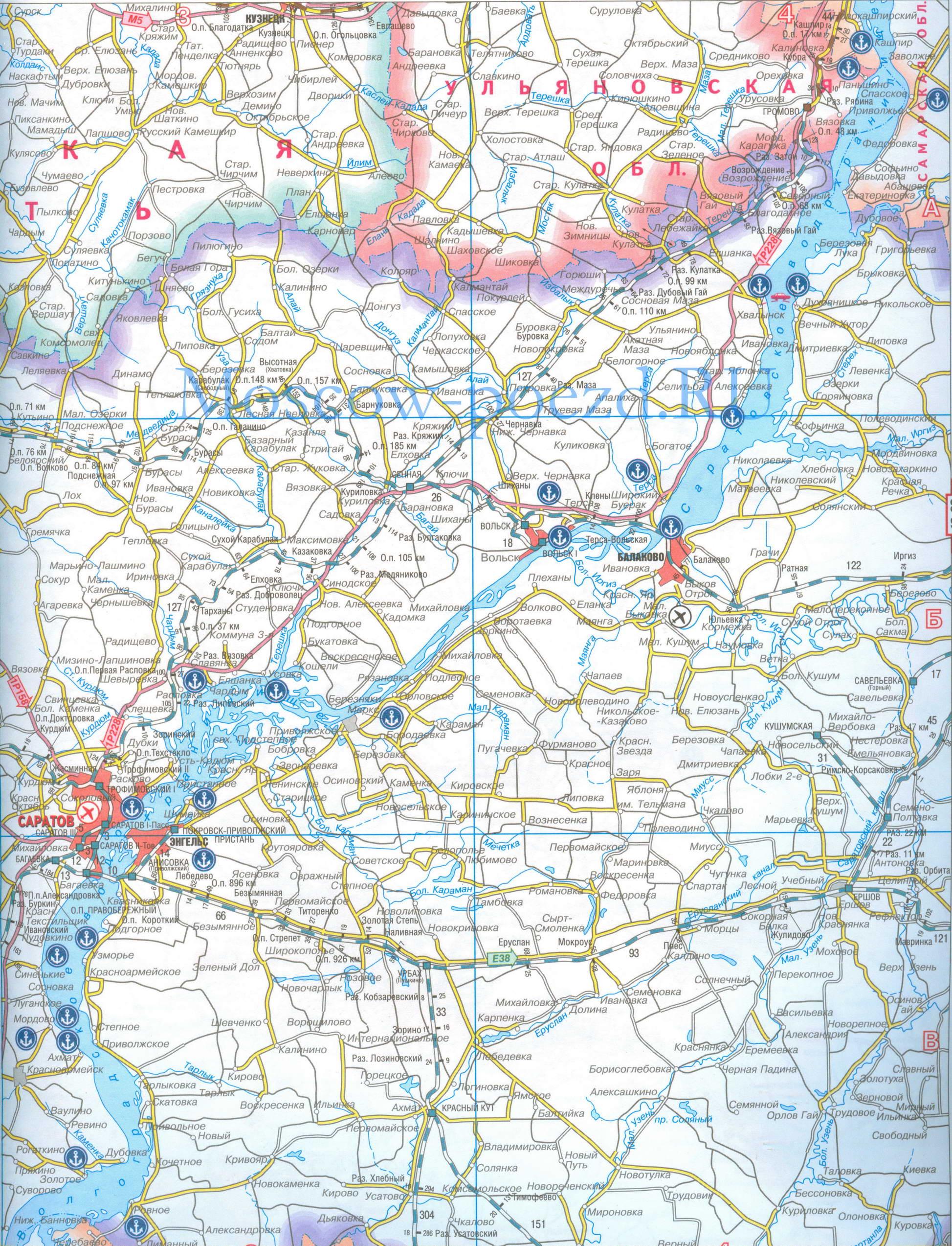 Карта приволжской железной дороги