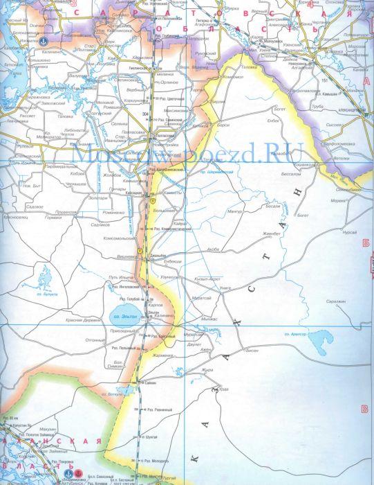Карта Приволжской железной