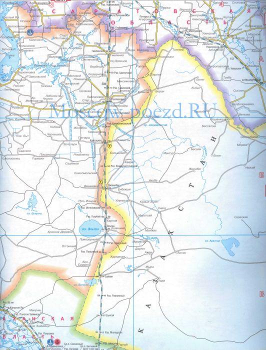 Карта Саратовской обл.
