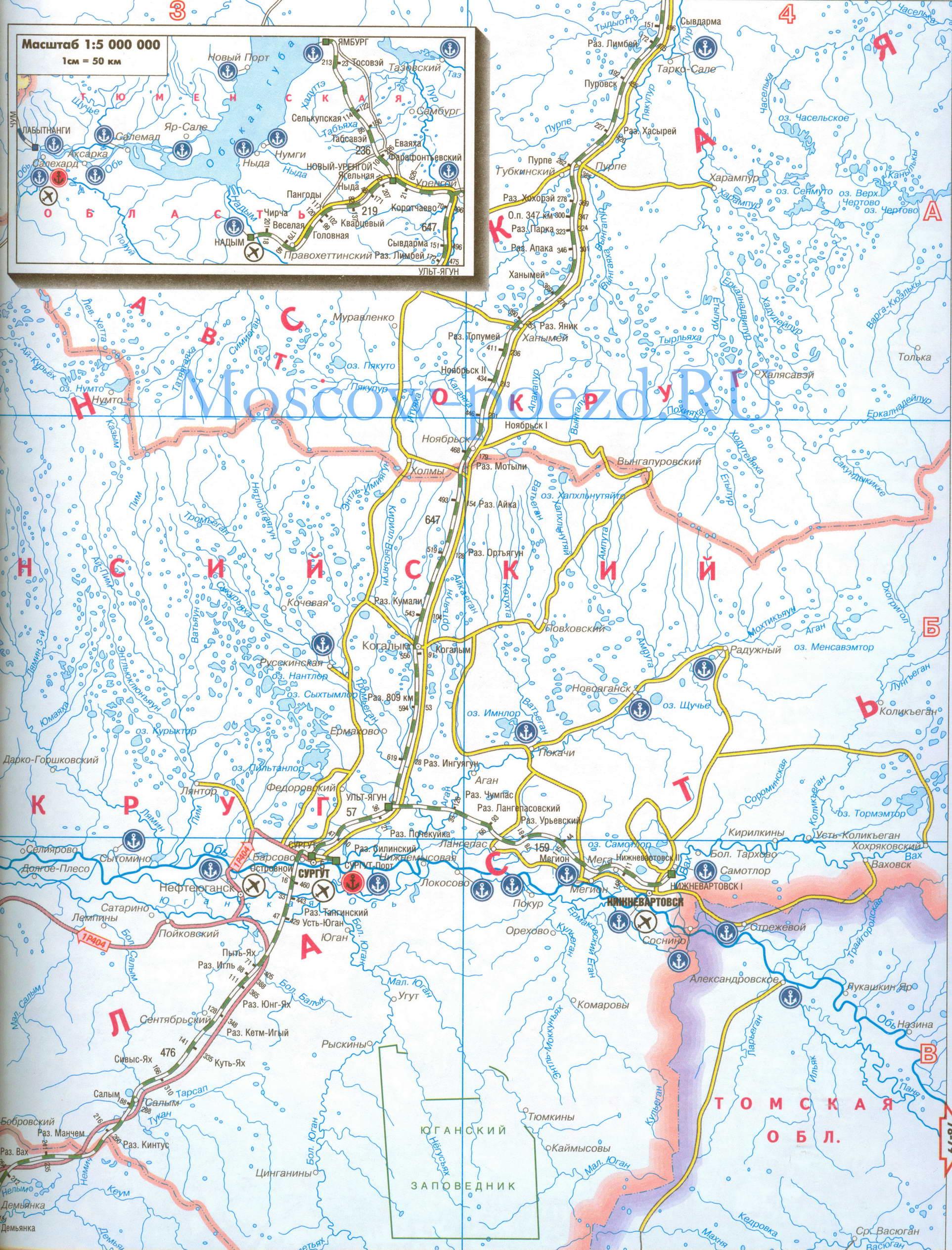 Карта Сургутского Района Скачать