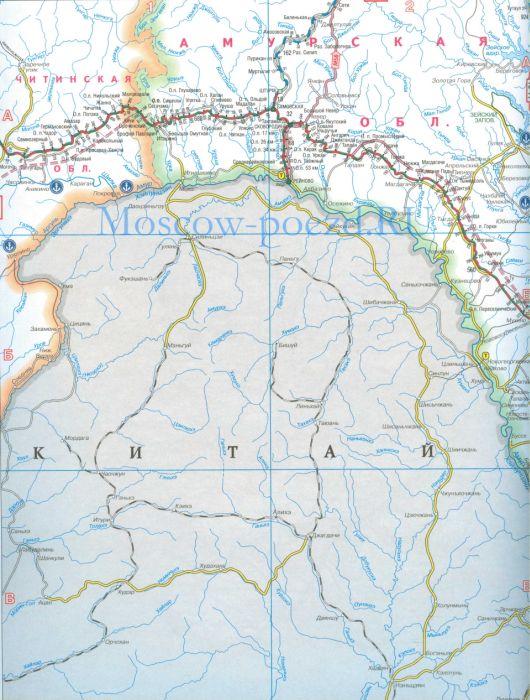 Карта дорог России. Карта жд