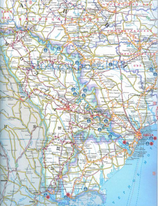 Карта молдавской железной дороги