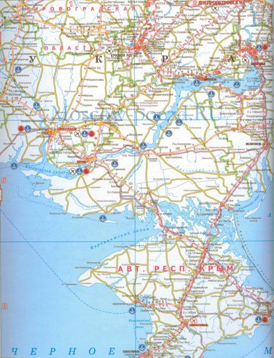 Подробная карта Украины.