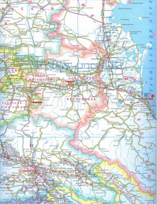 Карта грузинской железной дороги