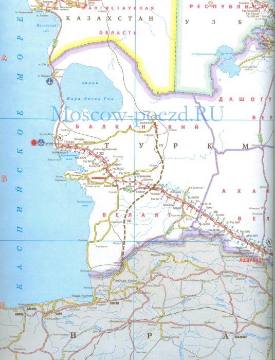 Карта жд Железная дорога